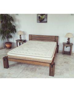 Lit Amalfi d'exposition (140x190) tête de lit massive